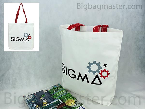 ถุงผ้าโรงเรียนกวดวิชา ลำพูน TUS1_03 SIGMA ผ้าแคนวาส
