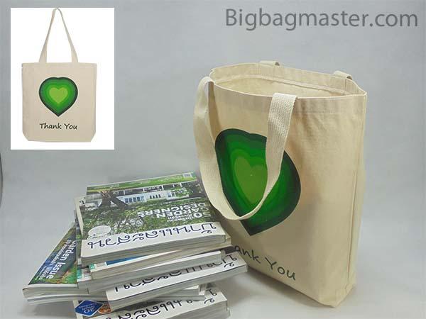 ถุงผ้าดิบP1_17 green heart เครือเบทาโกร